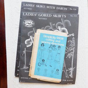Vintage Patterns - 70s Skirts and Dresses